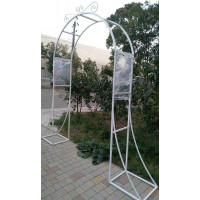 Арка свадебная/садовая из металла разборная: из 3-х частей №028. Производство: Украина, Одесса