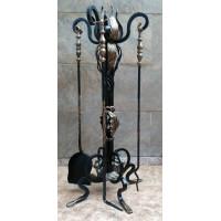 Набор для камина, художественная ковка ручной работы №002. Производство: Украина