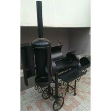 УНИВЕРСАЛЬНАЯ КОПТИЛЬНЯ Горячего и Холодного Копчения, на колесах №045. Производство: Украина