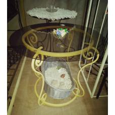 Кованая мебель: Стол (столешница из стекла) №012. Производство: Украина, Одесса