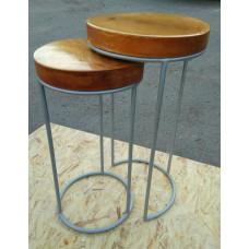 """Набор: Дизайнерская подставка-стульчик в стиле: """"Loft (Лофт)"""" - 2 шт №040"""