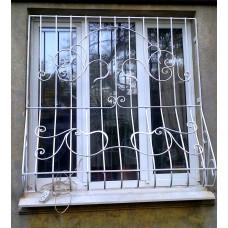 Оконная решетка кованая с животом, художественная ковка №017. Производство: Украина, Одесса