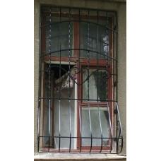 Оконная решетка с животом, ковка №054. Производство: Украина, Одесса
