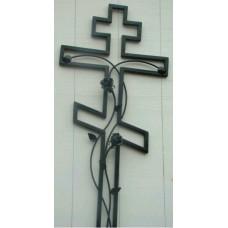 Крест могильный из металла ажурная художественная ковка №008