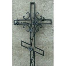 Крест могильный из металла ажурная художественная ковка №009