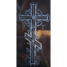 Крест могильный из металла ажурная художественная ковка №013