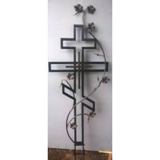 Крест могильный из металла ажурная художественная ковка №015