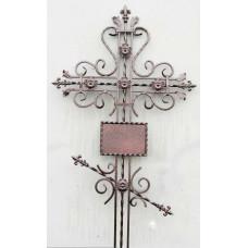 Крест могильный из металла ажурная художественная ковка №017
