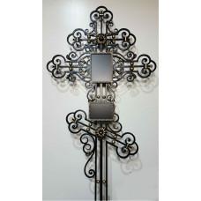Крест могильный из металла ажурная художественная ковка №021