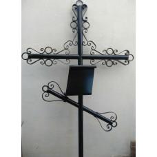Крест могильный из металла сварной с элементами ковки №025