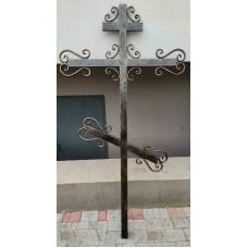 Крест могильный из металла сварной с элементами ковки №051. Производство: Украина, Одесса