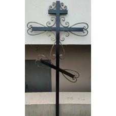 Крест могильный из металла сварной с элементами ковки №052. Производство: Украина, Одесса