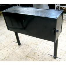 Скамья-тумба, столик с ящиком на кладбище №001