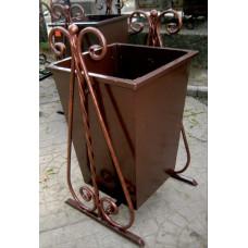 Урна металлическая, ковка 60 литров №002