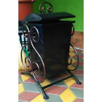 Урна металлическая, ковка 40 литров, с крышкой №010